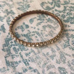 *FREE W/BUNDLE* Gold Rhinestone Stretch Bracelet